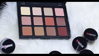 new morphe brushes 12nb natural beauty palettew swatches