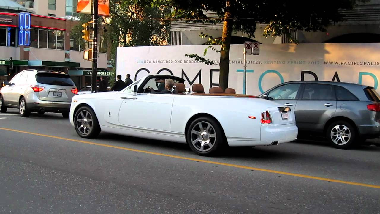 White Rolls Royce Phantom Drophead Coupe Youtube