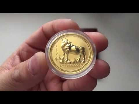 1997 Gold Lunar Series 1 Ox & Perth Mint coin box for the series