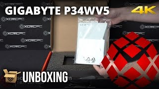 gigabyte p34wv5 unboxing by xotic pc