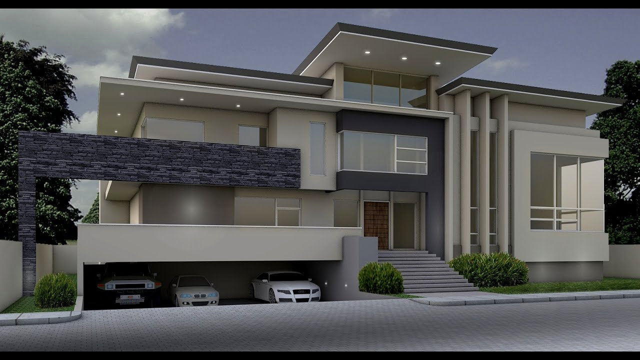 Modern House Actual Construction - 1st Week - YouTube on Amazing Modern Houses  id=37726