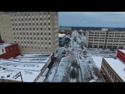 Snowy Longview from above