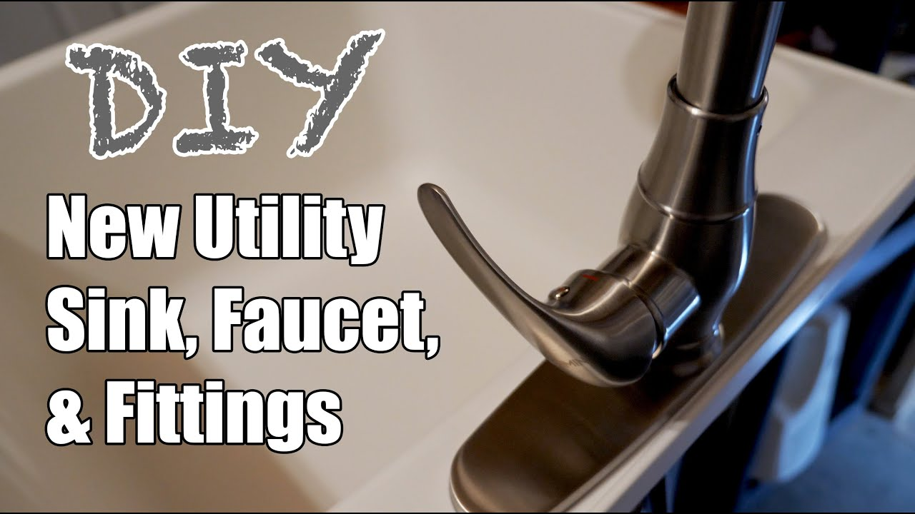 new diy replacement utility sink faucet and fittings