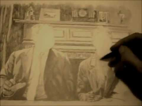 Laurel and Hardy drawing youre darn tootin speed drawing ...