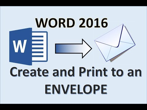 Word 2016 - Printing an Envelope - How To Print Address on Envelopes