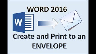 Word 2016 - Priฑting an Envelope - How To Print Address on Envelopes From Printer in HP Canon Epson