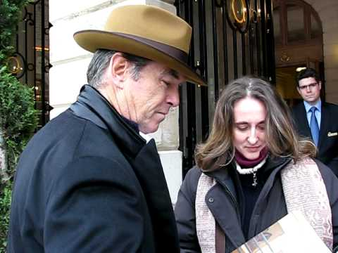 Pierce Brosnan signing autographs in Paris February 2010