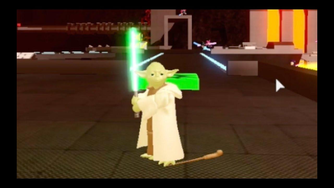 Roblox Yoda Gameplay Roblox Lightsaber Battlegrounds Ilum 2 Custom