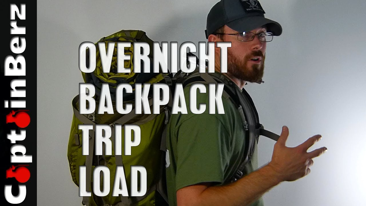 Overnight/2 Day Backpacking/Hiking Load (What to Take?) - YouTube