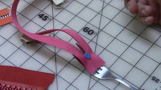 Fork Trick to Put Zipper Heads On Zipper Yardage