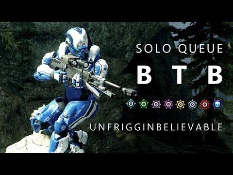 Halo 5 - Solo Queue BTB Unfrigginbelievable (40 Kill Spree) // Viking CTF