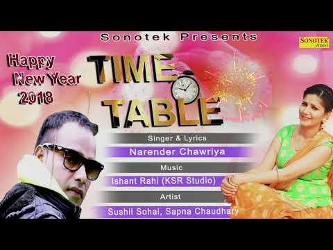 Time Table || Sapna Chaudhary, Narender Chawriya, Sunil Sohal || Latest Haryanvi Song 2017