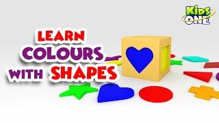 Learn Colors with SHAPES | Best Learning Video for Toddlers | KidsOne