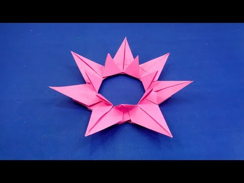 DIY Paper Star | How To Make A Christmas Star | Simple Origami 3D Paper Star - Christmas Decoration