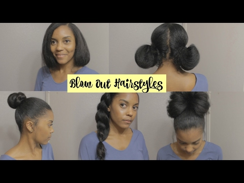 Blow Out Hairstyles On Natural Hair Youtube
