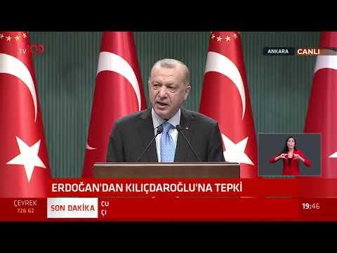Cumhurbaşkanı Erdoğan'ın açıklamasının tamamı