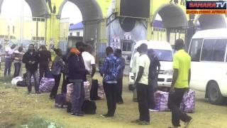 """Nigerians Deported From The United Kingdom Arrive In Lagos With """"Ghana-Must-Go"""" Bags"""