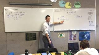 Solving Equations (2 of 2: Using two methods to solve the same algebraic equation)