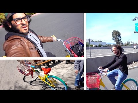 "WHERE TO FIND AND ""STEAL"" GOOGLE BIKES! - Google Campus Mountain View, California"