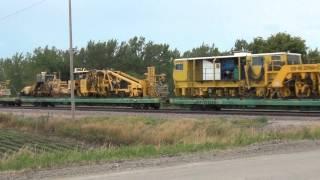 Megaton trainload of Union Pacific Maintenance of Way equipment, hi-railers, etc.