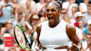 Serena Williams beats Alison Riske in 3 sets, advances to semifinals | 2019 Wimbledon Highlights