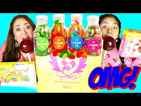 Thumbnail: HUGE CANDY REVIEW Giant Chupa Chups Sour Marshmallow Cake Prank Poop|B2cutecupcakes