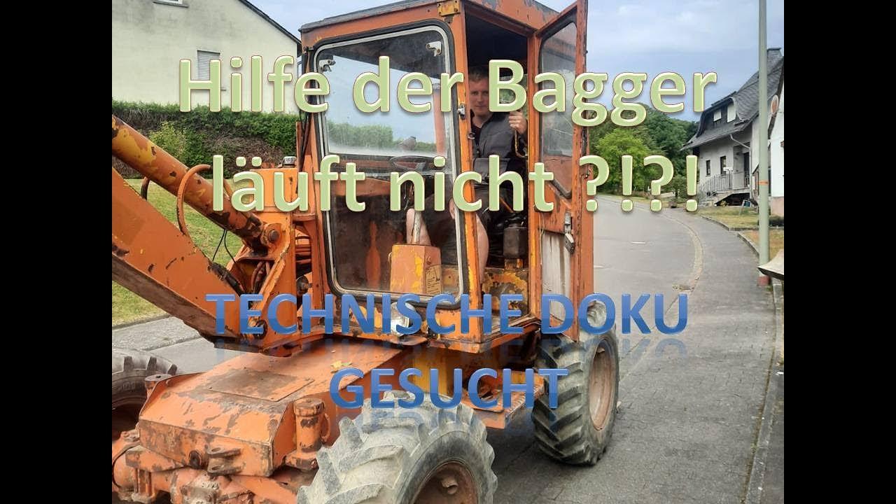 Hilfeaufruf Bagger | Könnt ihr mir helfen?! | Fahrantrieb defekt Schaeff HML15 | #OIM