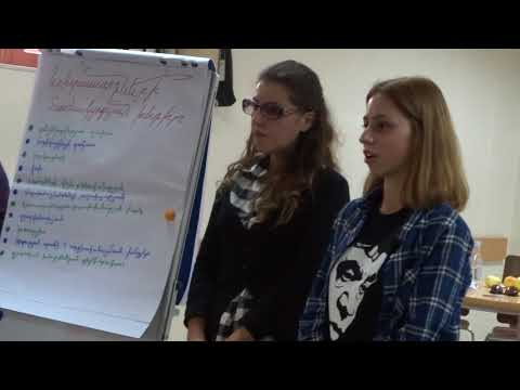 """""""Young Activist"""" Project: Workshop in Gyumri, Shirak region, Presentation of the WG2 (2)"""