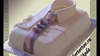 Урок по декору торта Рубашка (запись он-лайн занятия)
