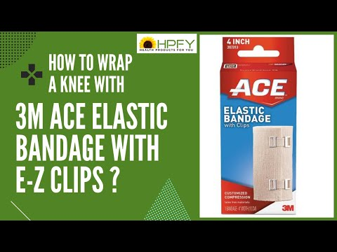 How To Wrap A Knee With 3m Ace Elastic Bandage Applying Elastic