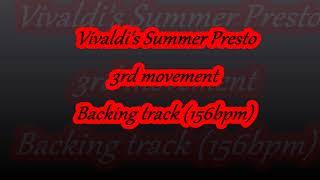 Vivaldi Summer Presto Backing Track Hd