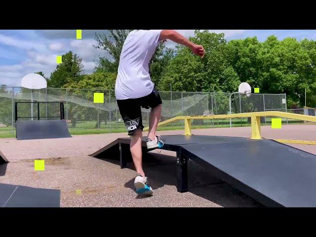 Grinding On a Rail With SkidzGrindplates