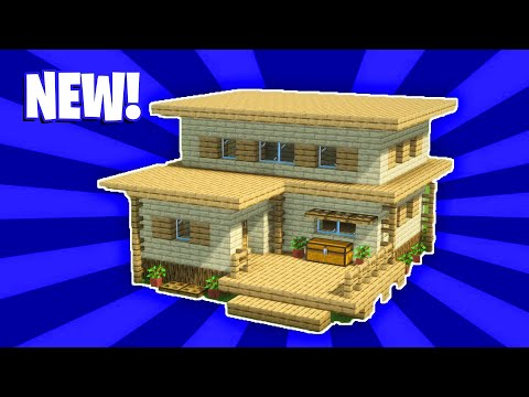 Minecraft House Tutorial :  (#5) Large Wooden Surival House (How To Build)