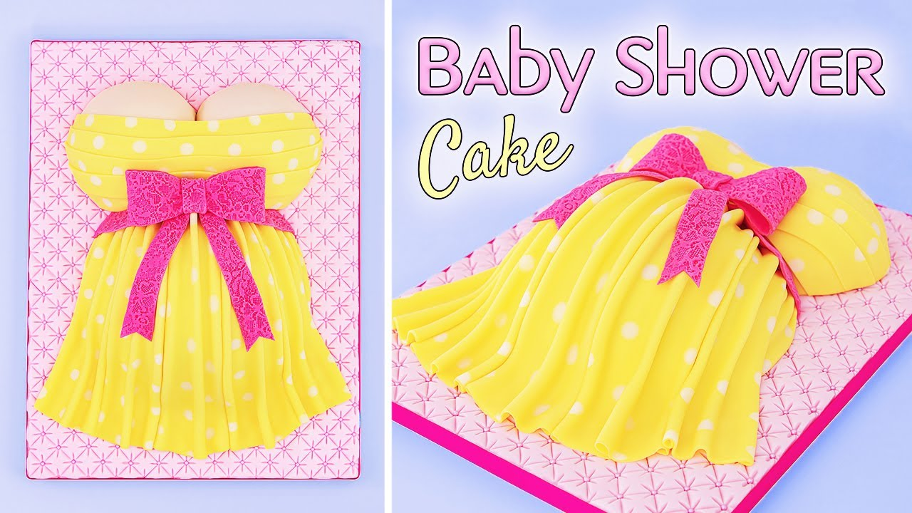 Baby Shower Cake - Baby Bump - Pregnant Belly Cake Tutorial - Tan Dulce