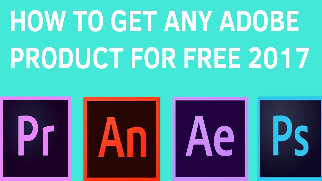 HOW TO GET ANY/ALL OF ADOBE'S PRODUCTS FOR FREE LATEST VERSION!!!NO VIRUS!!!!