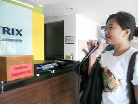 Kate Ampusta - Karaoke session at CX Lobby