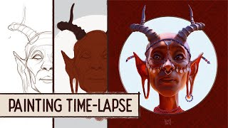 Swala Elder - Digital Painting Time-lapse by IgsonArt - Iga Oliwiak