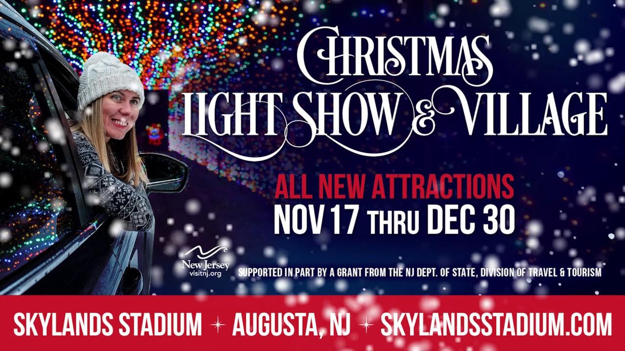 christmas light show village at skylands stadium