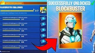 THAT is the BLOCKBUSTER SKIN in FORTNITE!?! | WE HAVE AFTER ALL MISSIONE in FORTNITE!!