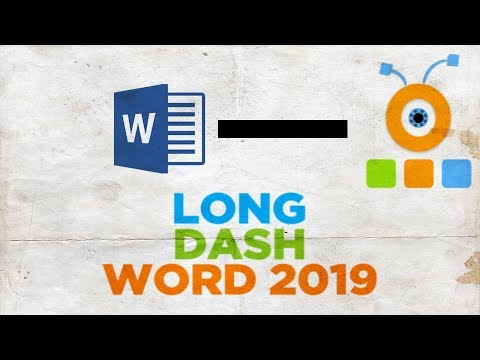 How To Put A Long Dash In Word 2019 | How To Insert A Long Dash In Word 2019