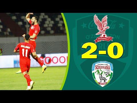 Navbahor 2-0 So'g'diyona #Superliga2020 Barcha Gollar Va Xavfli Vaziyatlar