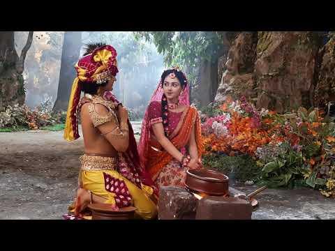 radha krishn masti on set
