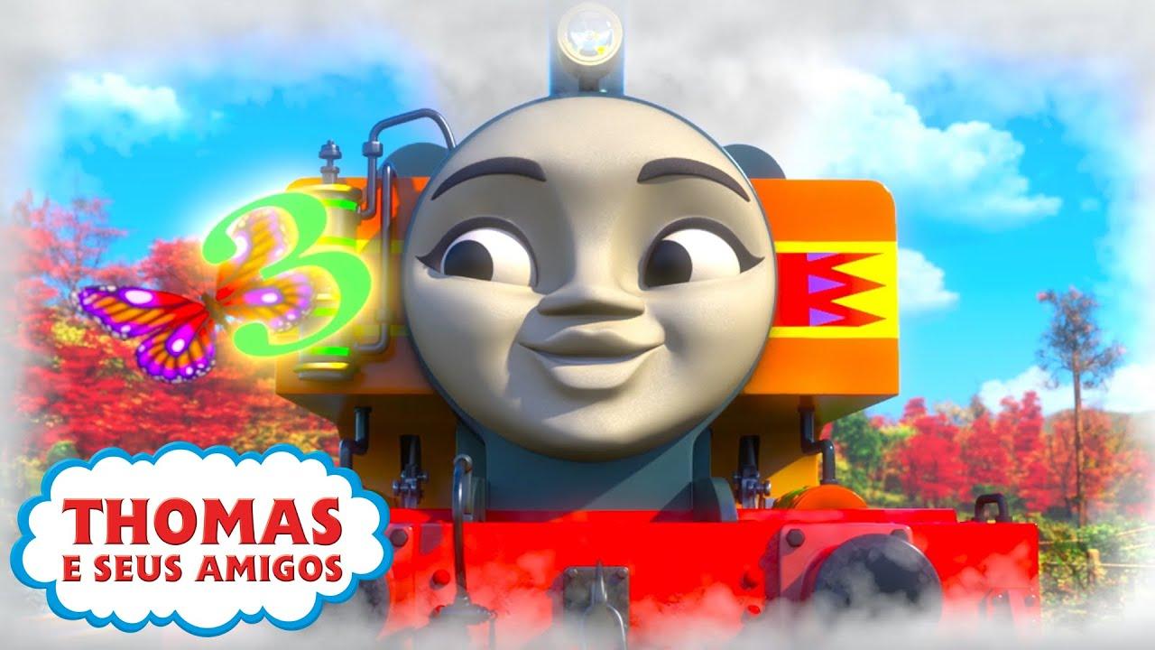 Thomas e Seus Amigos | Contando com Nia (Sodor) e mais! | 30 minutos de compilação