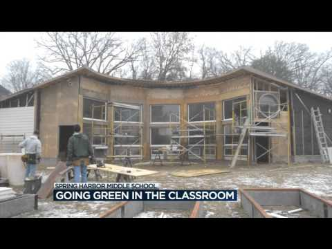 Spring Harbor Middle School goes green in the classroom