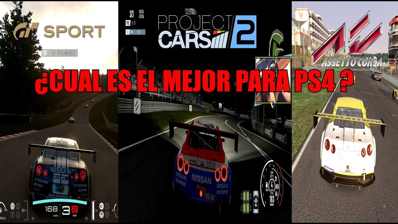 comparativa gt sport vs project cars 2 vs assetto corsa. Black Bedroom Furniture Sets. Home Design Ideas