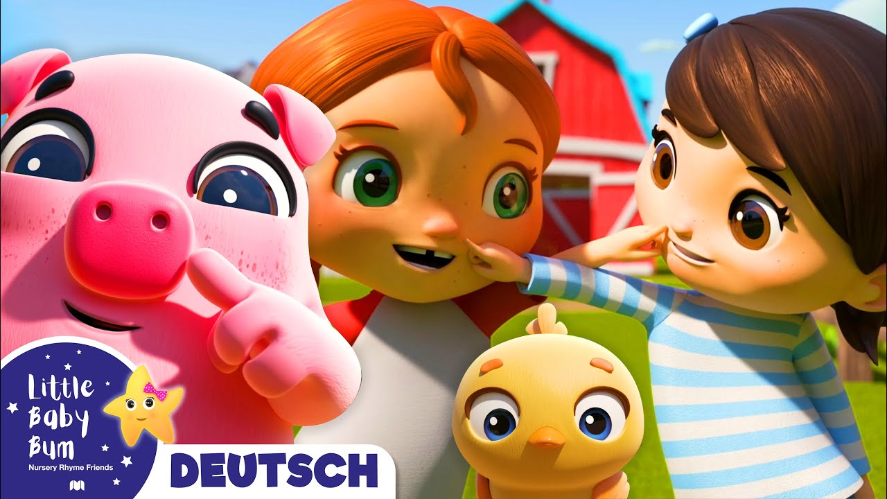 Siehst du meine Nase? | Kinderlieder | Little Baby Bum Deutsch | Cartoons für Kinder