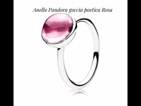 pandora anello gocce d'argento