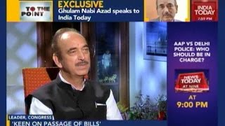 To The Point: Ghulam Nabi Azad On Upcoming Monsoon Session In Parliament