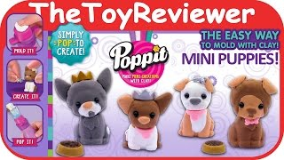 Poppit S1 Starter Kit Clay Mini Puppies Unboxing Toy Review by TheToyReviewer