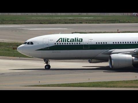 Alitalia Airbus A330-200 EI-EJL Takeoff from KIX 24L